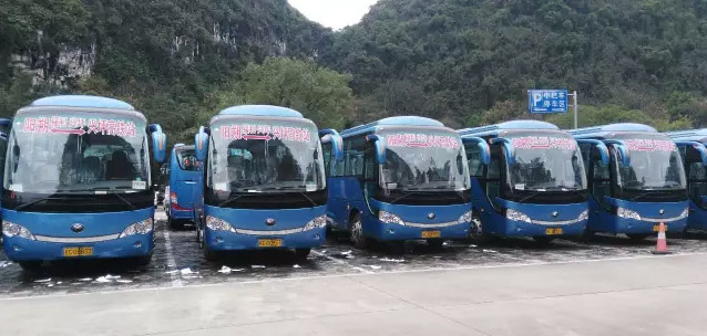 Bus to Yangshuo Station Guilin