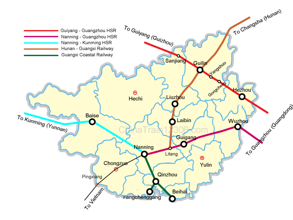 Guangxi Train: High Sd Train Travel in Guangxi of China on yulin china weather, shaanxi china on world map, yulin qingdao map,