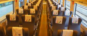 CRH train shenzhen guangzhou 1st class seat