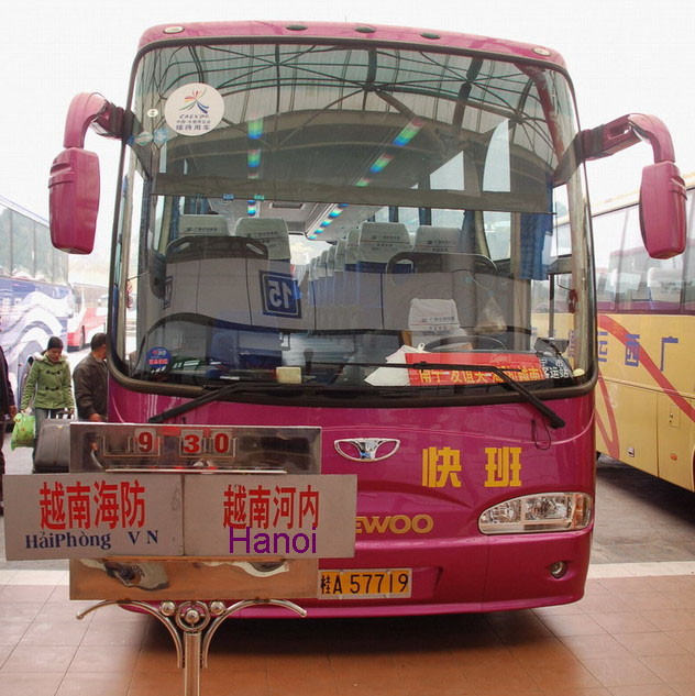 bus from nanning to hanoi
