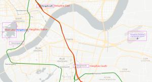 hangzhou train station map