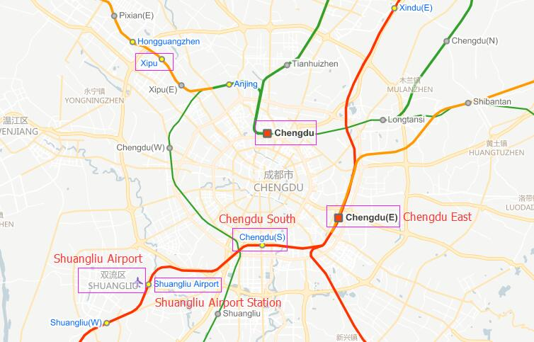 Train Stations in Chengdu East South North Schedule