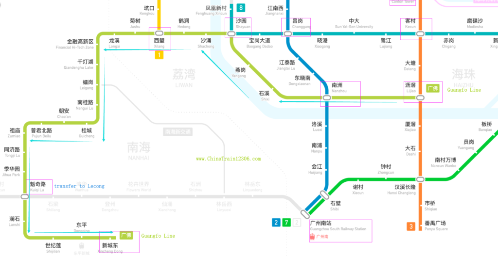 Guangzhou Foshan subway map